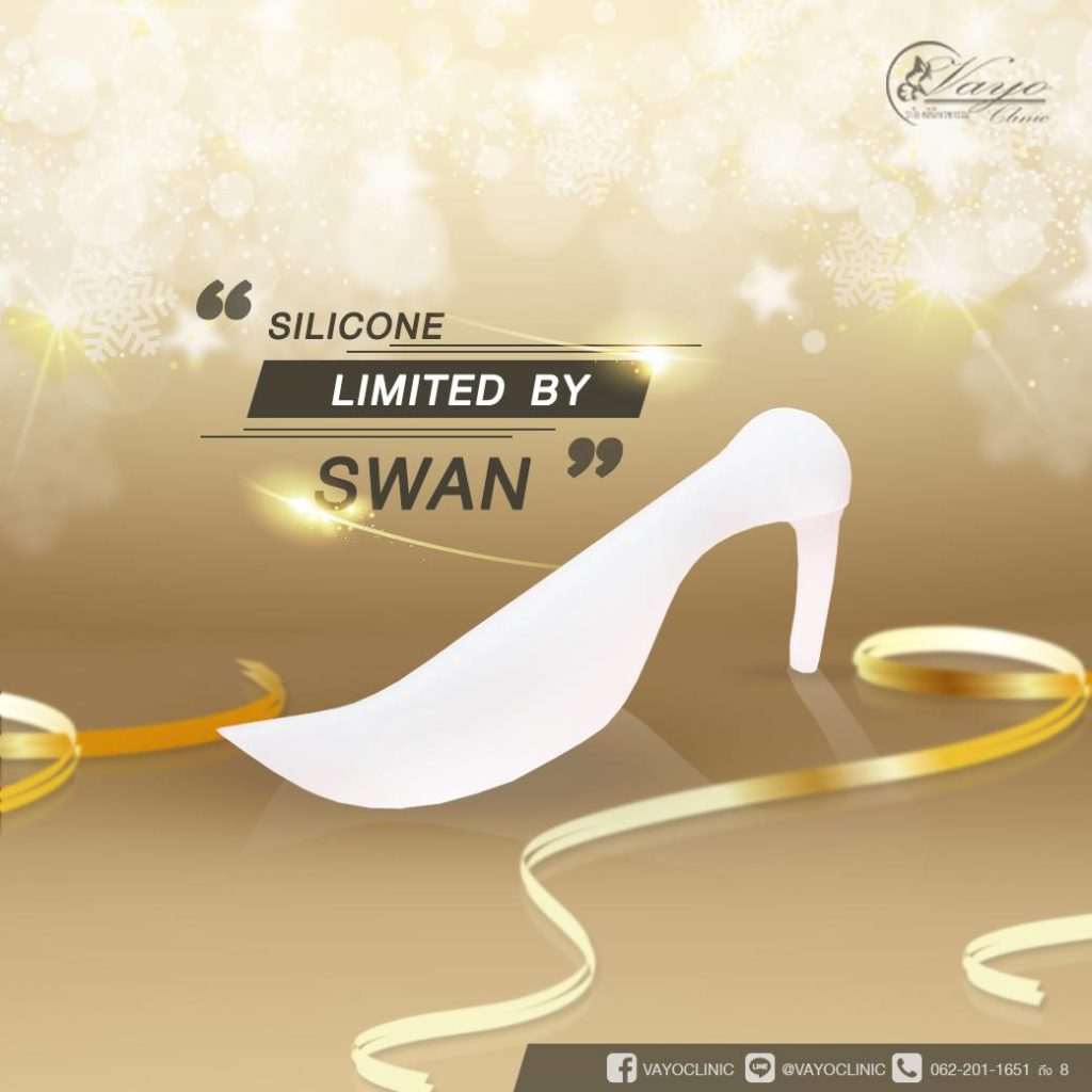 Silicone swan